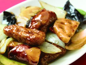 桃李蹊カジュアル 季節のおすすめメニュー 豚ヒレ肉の黒酢スブタ